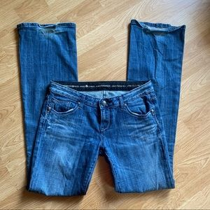 Express Low Rise Dark Wash Jeans size 6